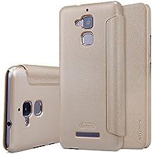 "Asus Zenfone 3 Max ZC520TL 5.2"" Funda - SMTR® Alta calidad Slim Fit Flip Case Cover Funda cubierta para Asus Zenfone 3 Max,(dorado)"