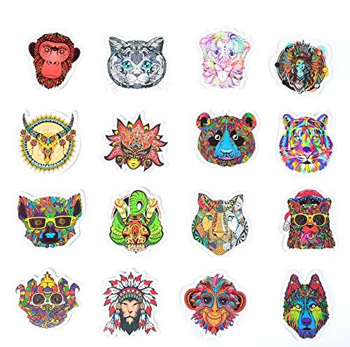 te Inder Ethnischen Stil Aufkleber Tiere Tribal Masken Tattoo Decor Aufkleber zu DIY Gepäck Laptop Reise Fall Gitarre ()