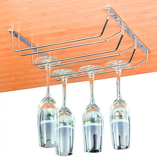 Gläserhalter - Unter Kabinett Wein Gläserhalter (12 Gläser) 34.5 x 32.5 x 6 cm - Edelstahl StemwareHalter zum Aufhängen von Cocktail oder Champagnerflöten für Küche, Bar, Pubs, Restaurants