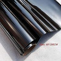 Película para ventana solar Película de vidiro unidireccional Lámina de protección solar, Mate, Resistente a los rayos UV y a la electrostática, No pegamento, Autoadhesiva, Color negro, Ideal para hogar y oficia