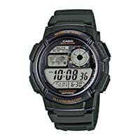 Casio Sport Watch Digital Display for Men AE-1000W-3A, Dark Green
