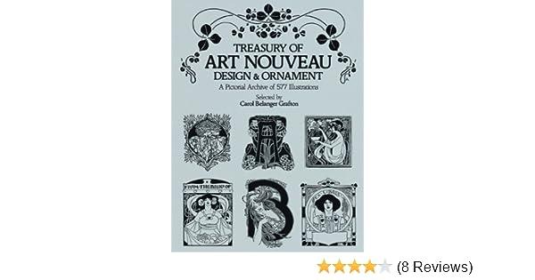 Treasury of Art Nouveau Design & Ornament (Dover Pictorial Archive ...