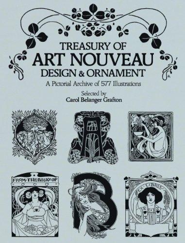 Treasury Of Art Nouveau Design Ornament Dover Pictorial Archive