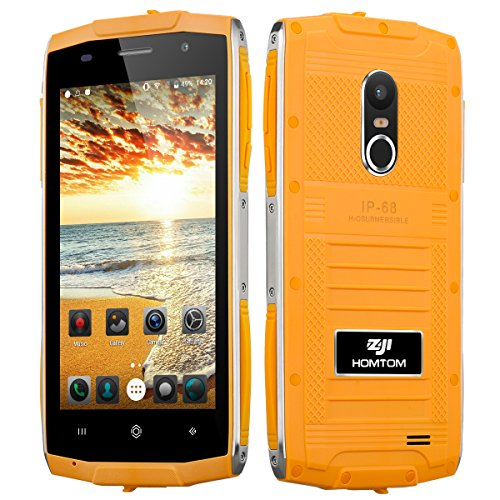 ZOJI Z6 3G Smartphone Ohne Vertrag (Android 6.0, IP68 Wasserdicht Outdoor Handy, 1GB Ram+8GB Rom, Dual-SIM Quad-Core, 4,7 Zoll Touch-Display, Dual Kamera, Fingerabdruck GPS ) - Orange