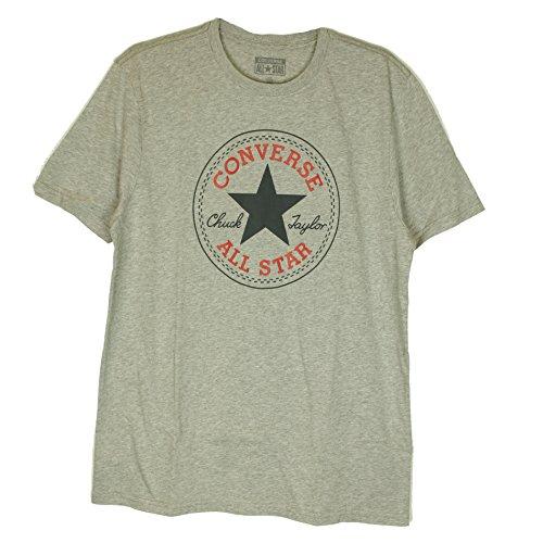 Converse Herren T-shirt AMT Core Cp Crew, Oatmeal Heather, S, 08335C-A08 (Jersey T-shirt Converse)