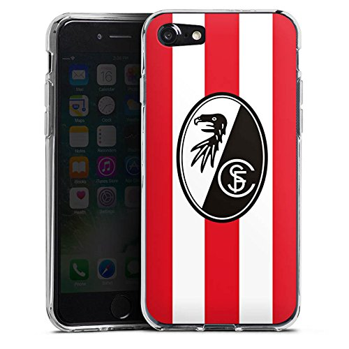 Apple iPhone X Silikon Hülle Case Schutzhülle SC Freiburg Fanartikel Fußball Silikon Case transparent
