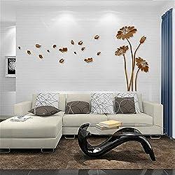 XMJR Pegatinas de pared de cristal acrílico tridimensional 3D salon dormitorio sofa cama TV pared del Fondo tamaño 120 * 60cm de amueblar una casa habitacion de matrimonio