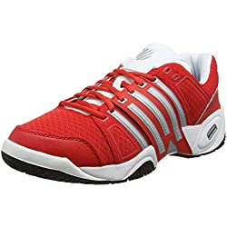 K-Swiss Accomplish II Mesh Omni Fiery - Zapatillas para hombre, color rojo, talla 43