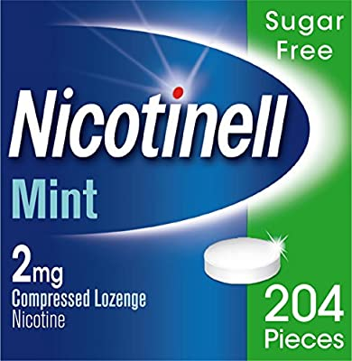 Nicotinell Nicotine Lozenges, Stop Smoking Aid, 2 mg, Sugar Free, Mint, 204 Pieces from GSK
