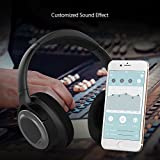 Noise Cancelling Kopfhörer dodocool Kopfhörer Bloothooth kabellos Bluetooth Kopfhörer on ear Bluetooth Kopfhörer kabellos Intelligenter Kopfhörer mit EQ Stereo Sound20 Stunden Spielzeit HiFi Stereo duale 40 mm Tieftontöner, Faltbare Ohrhörer