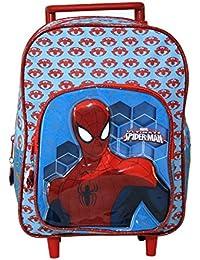 Sac à roulettes Spiderman en relief 3D - 31cm