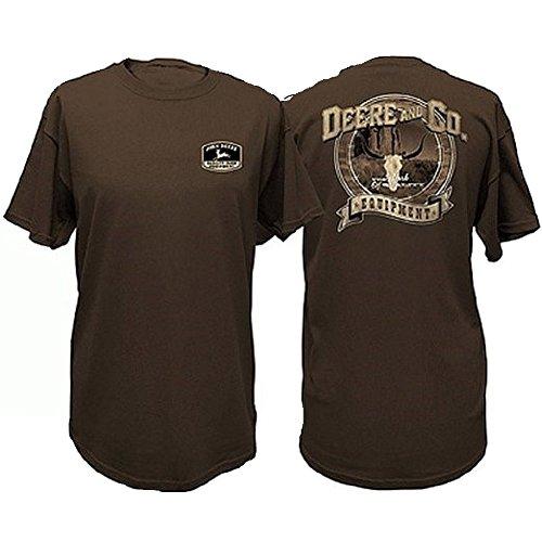 john-deere-hombres-de-marron-desierto-calavera-camiseta-tee-marron-marron-m