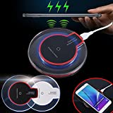 #2: Charmi Qi Wireless Charger Charging Pad Fantasy High Efficiency Blue Light Crystal for iPhone 8 8+ X Samsung S7/S6 Edge Google Nexus 6