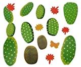 Unbekannt 13 tlg. Set Sticker / Wandtattoo / Wandsticker Kaktus Kakteen Wüste Strauch Blume Blumen Aufkleber / Wandaufkleber / Fenstersticker - Blumenmuster - Wohnzimmer & Kinderzimmer kleben Mexiko