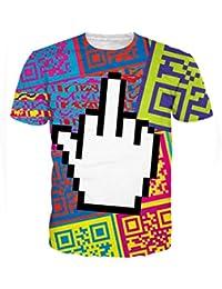 Uideazone Motif unisexe 3D Graffiti drôle T-shirt T-shirt Top