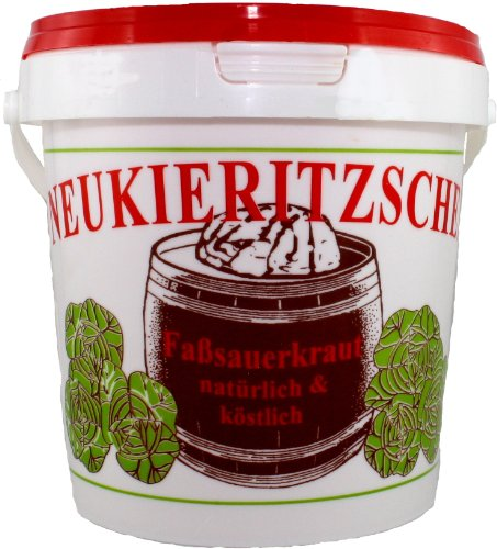 Frisches rohes sächsisches Sauerkraut im Eimerchen, 1 kg (950g), ohne Zucker und chemische Zusätze Test