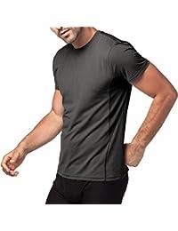 Lapasa T-Shirt Sport Homme Lot de 1/Lot de 2 Manches Courtes - Running Musculation Fitness Anti-odeur Antibactérien Ultra-respirant Thermorégulateur