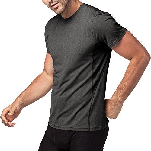 Lapasa Herren Sport T-Shirt, 1-2er Pack Sport Performance T-Shirt mit Mesh Einsätze, Quick-Dry Sport Funtionkstshirt, M015 (XXL, Black/Schwarz) (Mesh-nylon-hemd -)