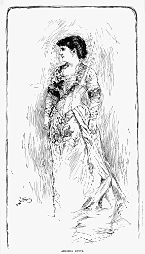 The Poster Corp Adelina Patti (1843-1919). /Nitalian Coloratura Soprano. Pen and Ink Drawing 1882. Kunstdruck (45,72 x 60,96 cm) Adelina Home Collection
