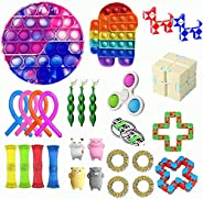 SWIFT Fidget Toys Set,27 Pack Simple Dimple Fidgets Toy for Kids Adults Stress Relief and Adult Anxiety Relief