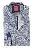 OLYMP Body Fit Casual Hemd mit Haifischkragen Serie Level Five Langarm Gr. S Blau