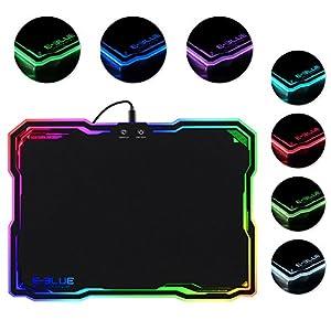 Gaming Mauspad, LED Mauspad mit RGB Hintergrundbeleuchtung, 36.5 x 26.5 x 0.5cm