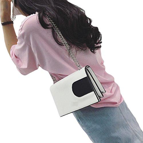 KYFW Neue Kette Paket Hit Farbe Kleine Quadratische Paket Casual Einfache Schultertasche Messenger Bag Weiblich A