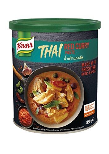 Knorr Thai Rote Curry Paste (authentische, thailändische Rezeptur) 1er Pack (1 x 850g)