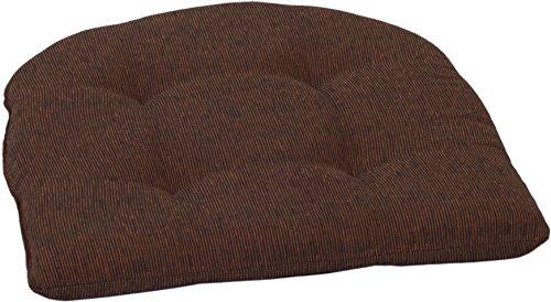 Halbrunde Sitzkissen für Sessel ca. 41 x 41 cm in terra
