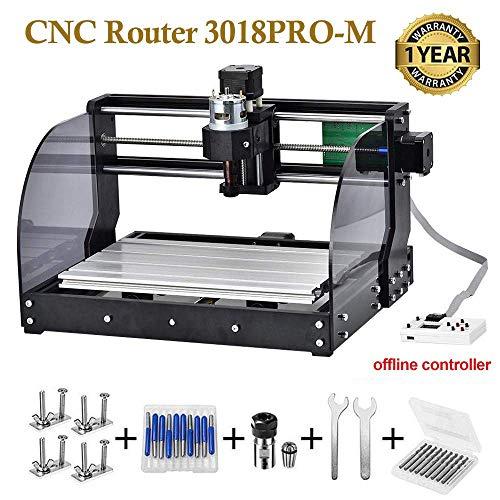 Vogvigo CNC 3018pro-M DIY Mini CNC Maschine, CNC Router Lasergravur Fräsmaschine 3 Achsen PCB Fräsmaschine,Arbeitsbereich: 300 * 180 * 45mm