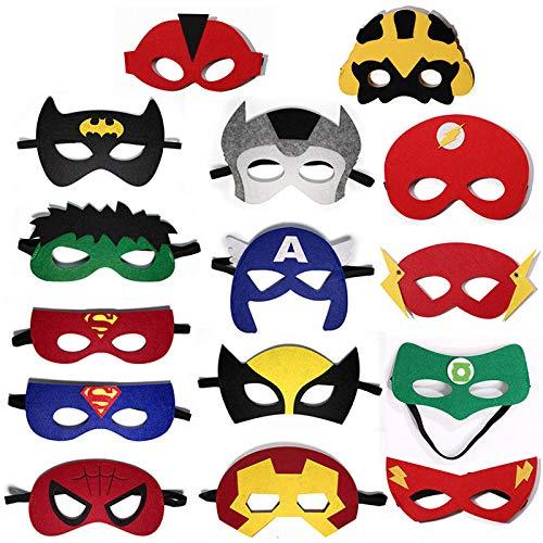 Ninja Turtle Super Mutant Kostüm - KOUYNHK Superheld Masken Super Masken, Weihnachten Halloween Cosplay Party Augenmasken 15 Stück Filz Masken,Eyepatch-15