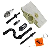 HURI Service Kit Zündkerze Luftfilter Benzin / Öl Schlauch Filter für Stihl Kettensäge 029 039 MS290 MS310 MS390 Ersatz 1127 120 1621