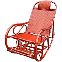 Mecedoras de Mimbre de bambú de Mimbre Sillón de terraza Adulto Sillón reclinable de Adulto Almuerzo al Aire Libre Plegable de Ocio
