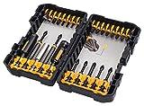 DEWALT DT70600T-QZ - Juego de 26 puntas de impacto en estuche tipo Tough Case para atornillar con llaves de vaso de limpieza fácil