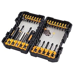51gyNXiOJ9L. SS300  - DEWALT DT70600T-QZ - Juego de 26 puntas de impacto en estuche tipo Tough Case para atornillar con llaves de vaso de limpieza fácil