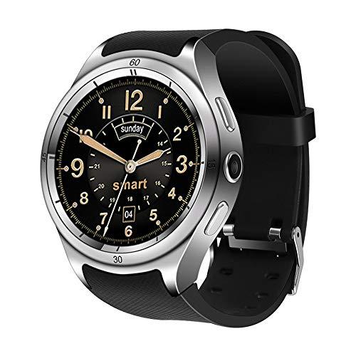 MHCYKJ Smart Watch ip67 wasserdicht F10 Android 5.1 Smart Watch SIM 3G GPS WiFi Herzfrequenz 600mAh Batterie,Gray (388 Uhr Batterie)