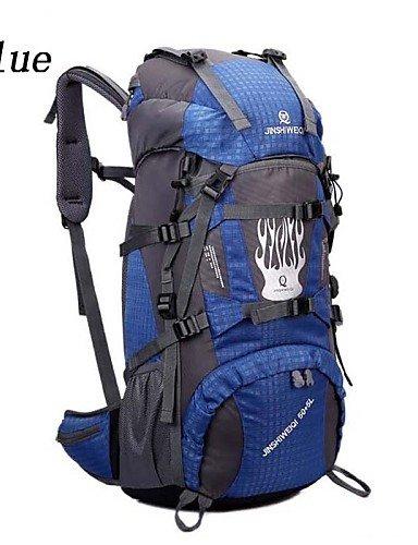 HWB/ 60L L Rucksack Camping & Wandern / Reisen Outdoor Wasserdicht / Wasserdichter Verschluß / tragbar / AtmungsaktivGelb / Grün / Rot / Blue