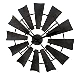 Relojes de pared de metal rústico envejecido Metal reloj de pared molino 22inch