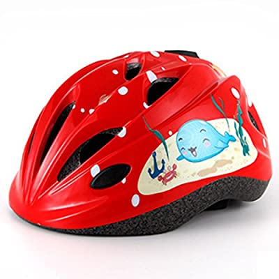 YAKOK Kids Helmet Set, 7pcs Dolphin Pattern Kids Helmet Safety with Protective Gear Set for Bike Scooter Skateboard Skate for Child Boys and Girls, Age 4-12 by YAKOK