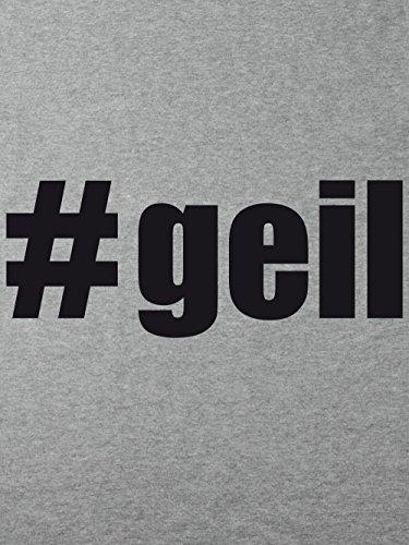 clothinx Damen T-Shirt Karneval #Geil Sports Grey mit Schwarz