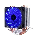upHere 4 Heatpipes RGB CPU-Kühler mit 2 * 120mm PWM Lüfter-Unterstützt ASUS Aura Sync/GIGABYTE RGB Fusion/MSI Mystic Light Sync/AsRock Polychrome Sync-AC12RGB