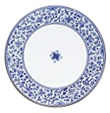 dafnedesign. COM–Gartentisch mit Tischplatte rund Durchmesser 120cm Gewicht 115kg.–Verzierung Schnörkel blau–Base Eisen grau anthrazit rund 80cm im Durchmesser. Ein Tisch in vulkanischen Stein verziert nicht braucht keine Wartung, hat eine hohe Schlagfestigkeit und kratzfest. (SF6)