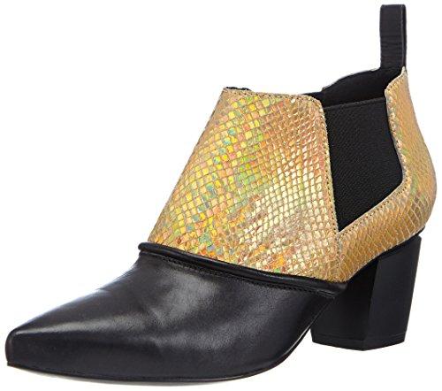 P1 Vancouver, Bottes courtes avec doublure intérieure femme Multicolore - Mehrfarbig (black/gold)