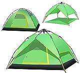 KOKR Automatisches Wasserdichtes Zelt für 2-4 Personen Doppeltes Regendichtes Sonnenschutzes des Zelt-CampFeuer Campingzelt | Großes Familienzelt | Gruppenzelt