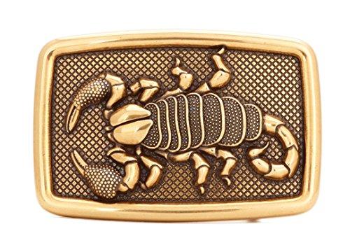 Gurscour Mode Westlichen Antiken Bronze Gravierte Blume Skorpion Gürtelschnalle Kolben Kühlen