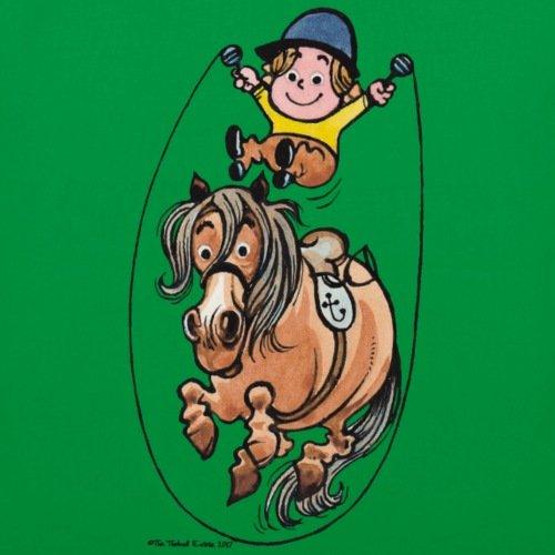 Spreadshirt Thelwell Reiter Und Pony Seilspringen Stoffbeutel Kelly Green