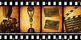 JP London umbps91050ustrip Retro Filmstreifen Vintage Hollywood Panorama komplett abnehmbar schälen und Stick Wandbild bei 3Füßen, hoch von 6Füße breit