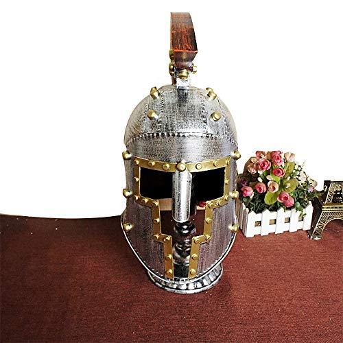 Bar Kampf Kostüm - GNSDA Herren mittelalterlichen Eisen Ritter Helm,