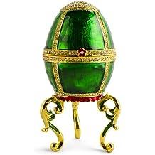 14cm verde smalto Jeweled Faberge Inspired (Smalto Jeweled Trinket)