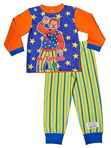 "Thepyjamafactory - pigiama per bambini con scritta ""something special"" e mr tumble, da 1a 5anni blue 18-24 mesi"